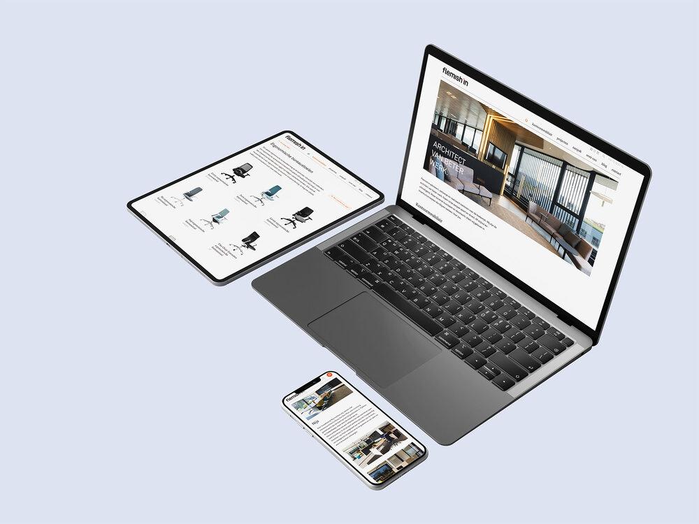 Bedrijfswebsite met productencatalogus voor Flemishin