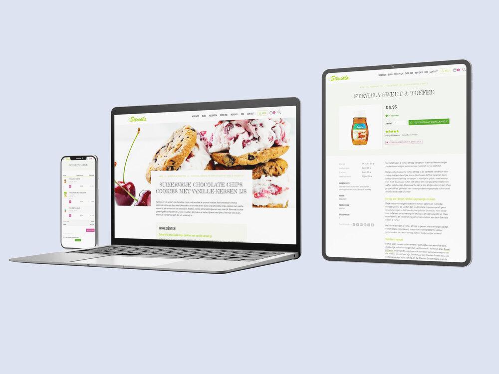 Webshop met e-fulfilment koppeling op maat voor Steviala