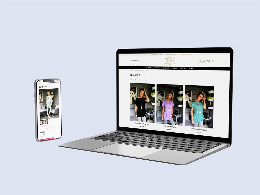 Mode webshop voor Diva Fashion